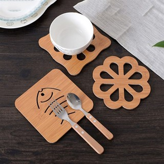 Đế lót cốc, nồi Nhật Bản bằng gỗ chịu nhiệt, trạm khắc những hình thú đáng yêu cho bé lại tiện lợi cho mẹ thumbnail