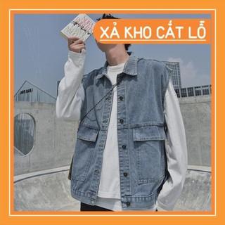 [FREESHIP] Áo Khoác Jeans Không Tay Thời Trang Dành Cho Nam