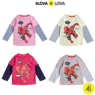 Áo thun dài tay 4LOVA họa tiết người nhện cho bé trai