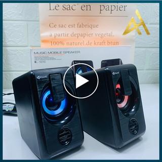 Loa Máy Vi Tính PC Laptop Để Bàn Cao Cấp 2.0 KISONLI L1010 Đèn LED 7 Màu - Loa Nghe Nhạc Mini Có Dây thumbnail