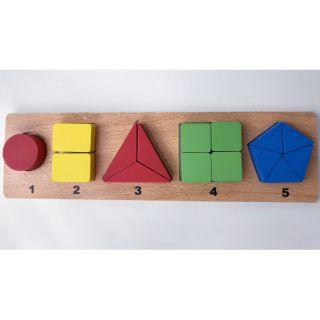 Bảng phân chia số học hình khối