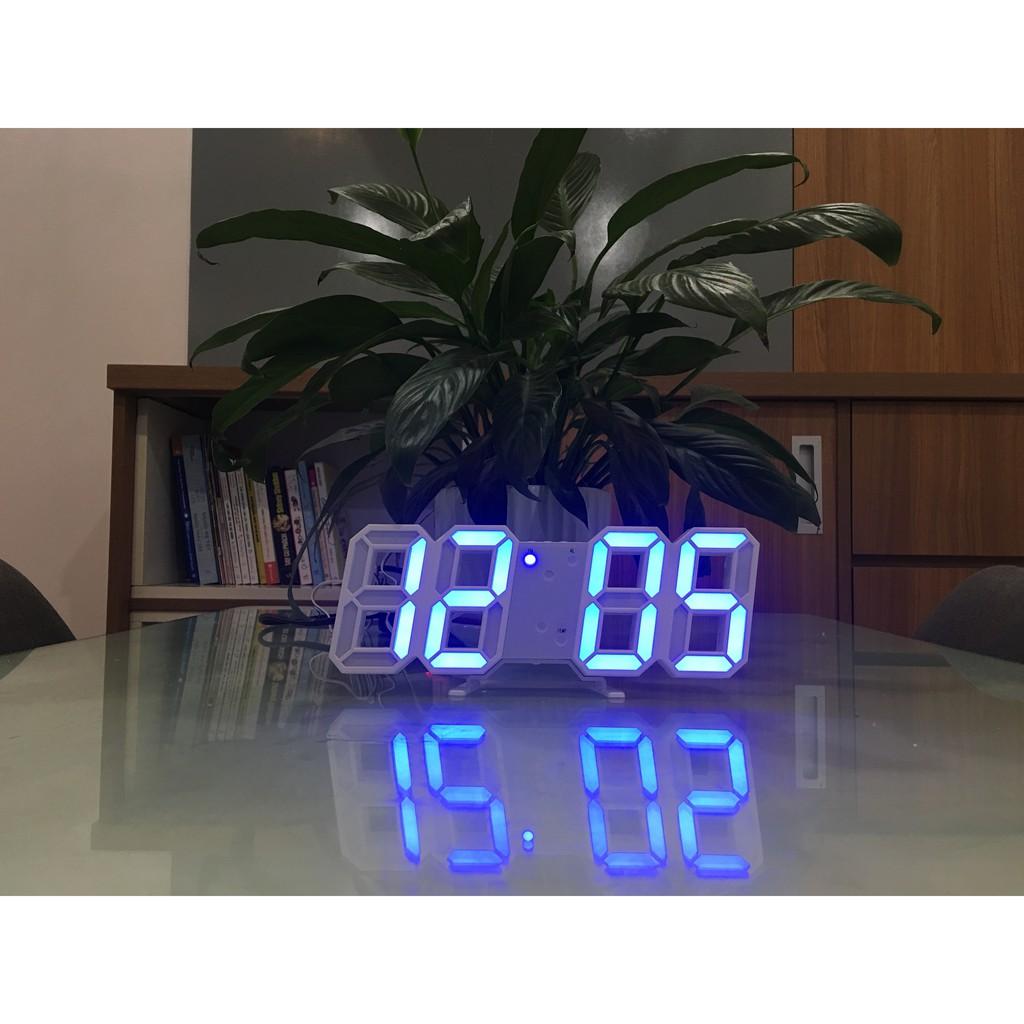 Đồng Hồ Điện Tử Để Bàn, Treo Tường Cao Cấp - Báo Thức & Đo Nhiệt Độ - Đồng hồ trang trí 3D - DH092