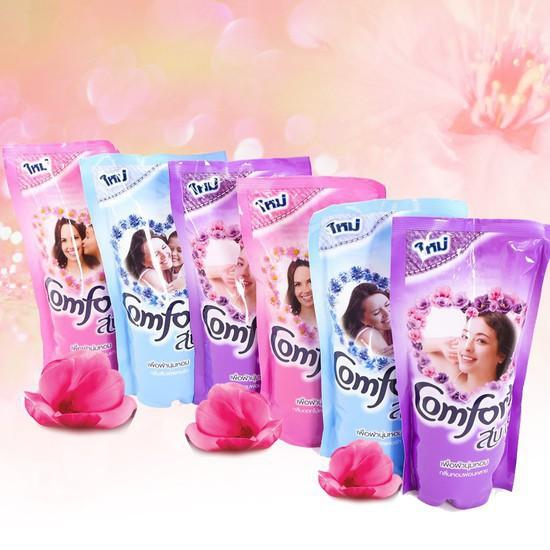 Nước giặt xả vải Comfort Thailand dạng túi 600ml