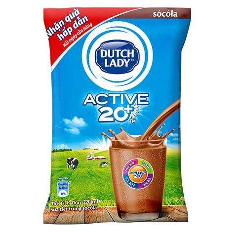 Sữa Fino Dutch Lady 20+ (Socola) 220ml - Thùng 48 bịch