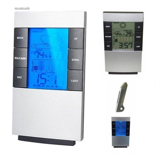 Alarm Clock 1.5 V Weather Forecast ABS Home Office Display Accessories