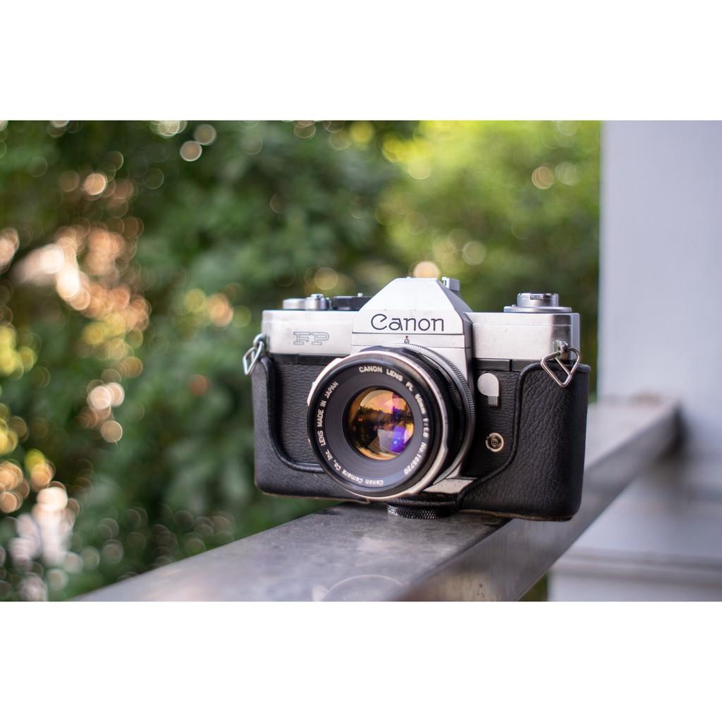 [HOANCT][-10%] [Thanh lý] Máy ảnh cổ vintage Canon FB 50/1.8 tặng kèm dây máy ảnh Canon màu đỏ