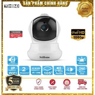 Camera wifi 3.0 Mpx Xoay 360 FULLHD+1296 Pixel - Srihome SH020 Chính hãng-Bảo Hành 5 Năm Tùy chọn kèm thẻ 32G,64G,128G thumbnail