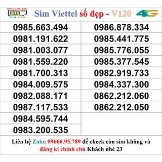 Sim Viettel V120 đầu 09 số đẹp giá rẻ 23