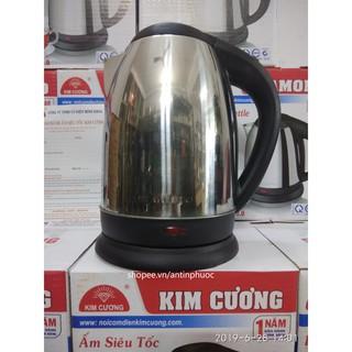 Ấm siêu tốc inox Bình đun nước 2 lít-1500w KIM CƯƠNG