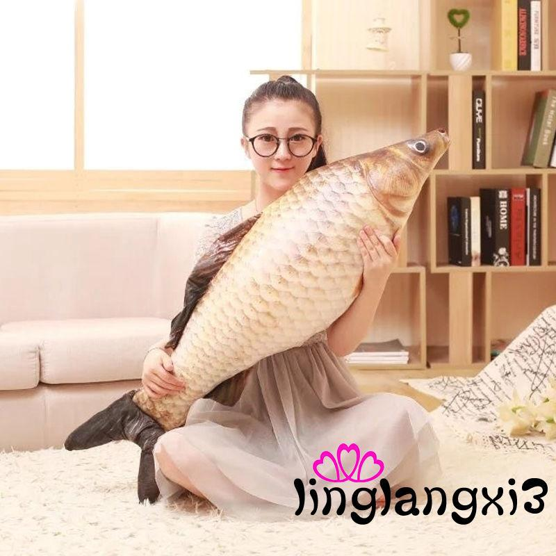 ILN-Grass Carp Pillow Stuffed Plush Simulation Animal Fish Toy Children Lovers