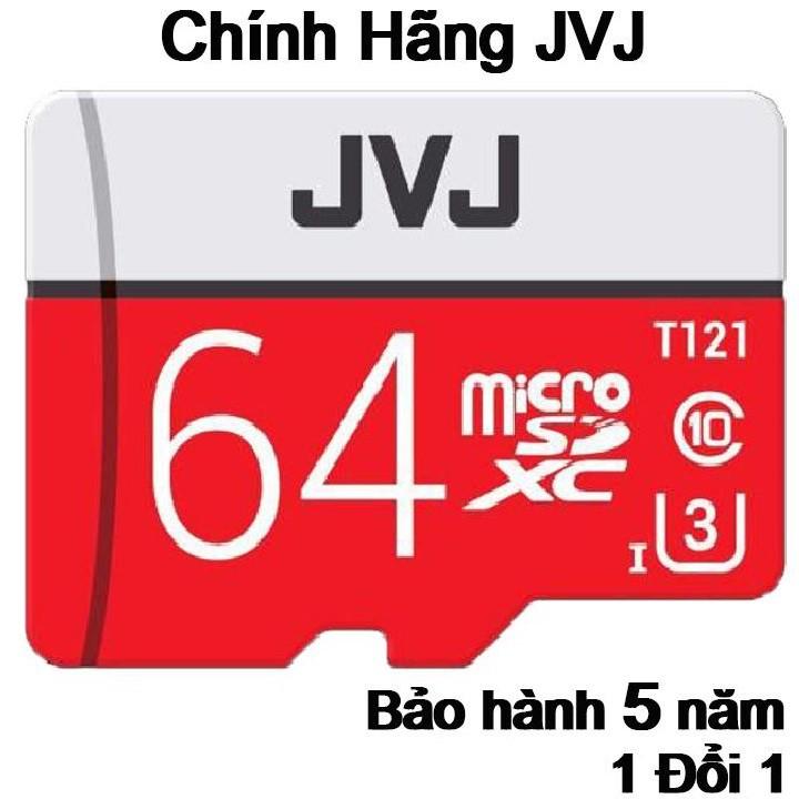 Thẻ nhớ 64Gb JVJ Pro U3 Class 10 - Chuyên dụng CAMERA tốc độ cao