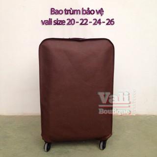 Bao bọc bảo vệ vali vải không dệt màu nâu size 24 thumbnail