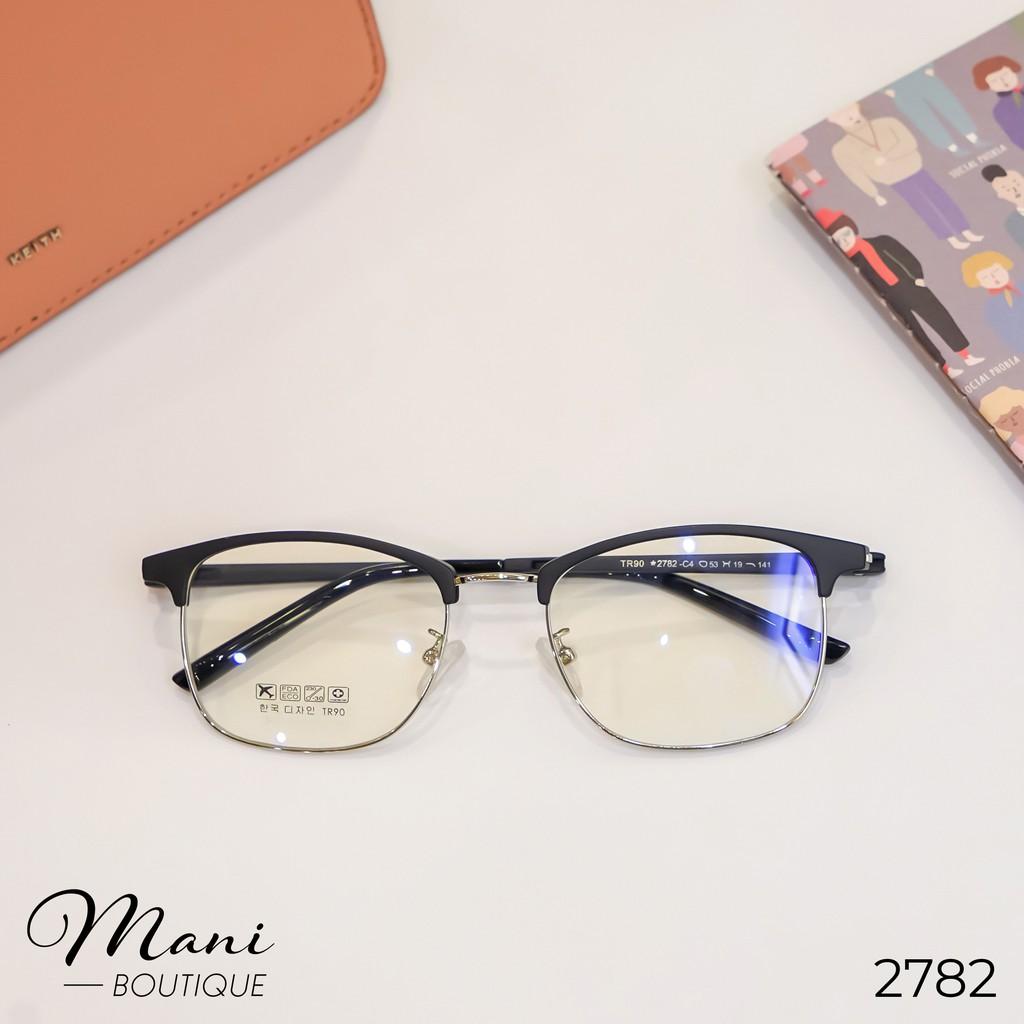 Gọng kính nam nữ Mani Glasses nhựa kim loại, mắt vuông, nhiều màu – 2782