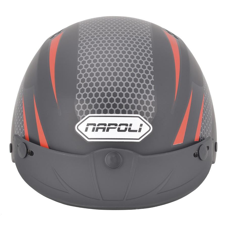 Mũ bảo hiểm 1/2 đầu NAPOLI N077 tem V2 Lưỡi Trai - Freesize 55-58 cm - Bảo Hành 12 Tháng