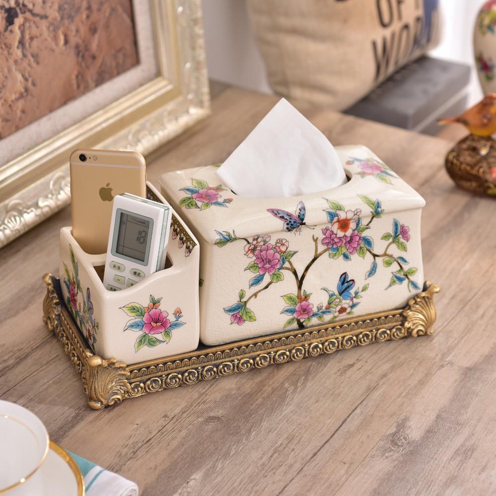 Hộp đựng giấy bằng sứ cao cấp hoa bướm - 2608163 , 1083810106 , 322_1083810106 , 990000 , Hop-dung-giay-bang-su-cao-cap-hoa-buom-322_1083810106 , shopee.vn , Hộp đựng giấy bằng sứ cao cấp hoa bướm
