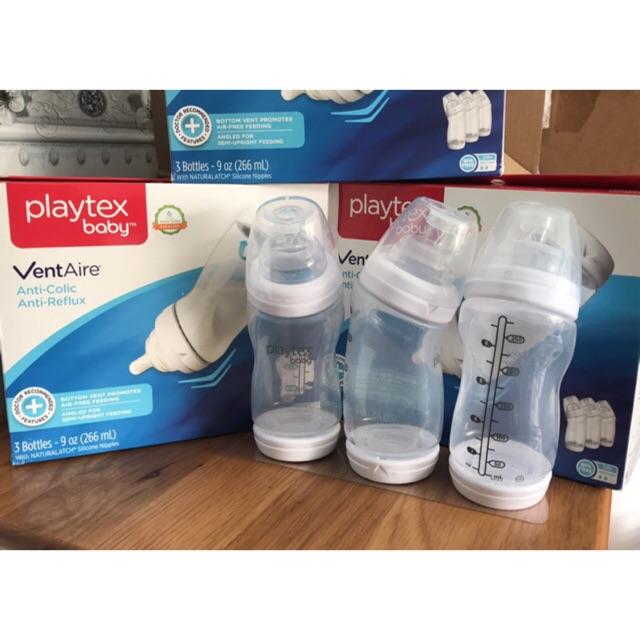 [Sale 380k] Set 3 bình sữa Playtex Baby VentAire cổ rộng 266ml (9oz) Mỹ, cho bé >3 tháng - 2862143 , 1325081656 , 322_1325081656 , 380000 , Sale-380k-Set-3-binh-sua-Playtex-Baby-VentAire-co-rong-266ml-9oz-My-cho-be-3-thang-322_1325081656 , shopee.vn , [Sale 380k] Set 3 bình sữa Playtex Baby VentAire cổ rộng 266ml (9oz) Mỹ, cho bé >3 tháng