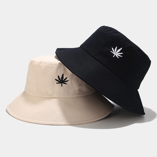 Embroidered Fisherman Hat Japanese Style Simple Leisure Basin Hat Summer Sun Hat