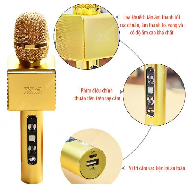 Mic hát Karaoke X6 cao cấp kèm Loa bluetooth - 2842541 , 316198629 , 322_316198629 , 327000 , Mic-hat-Karaoke-X6-cao-cap-kem-Loa-bluetooth-322_316198629 , shopee.vn , Mic hát Karaoke X6 cao cấp kèm Loa bluetooth