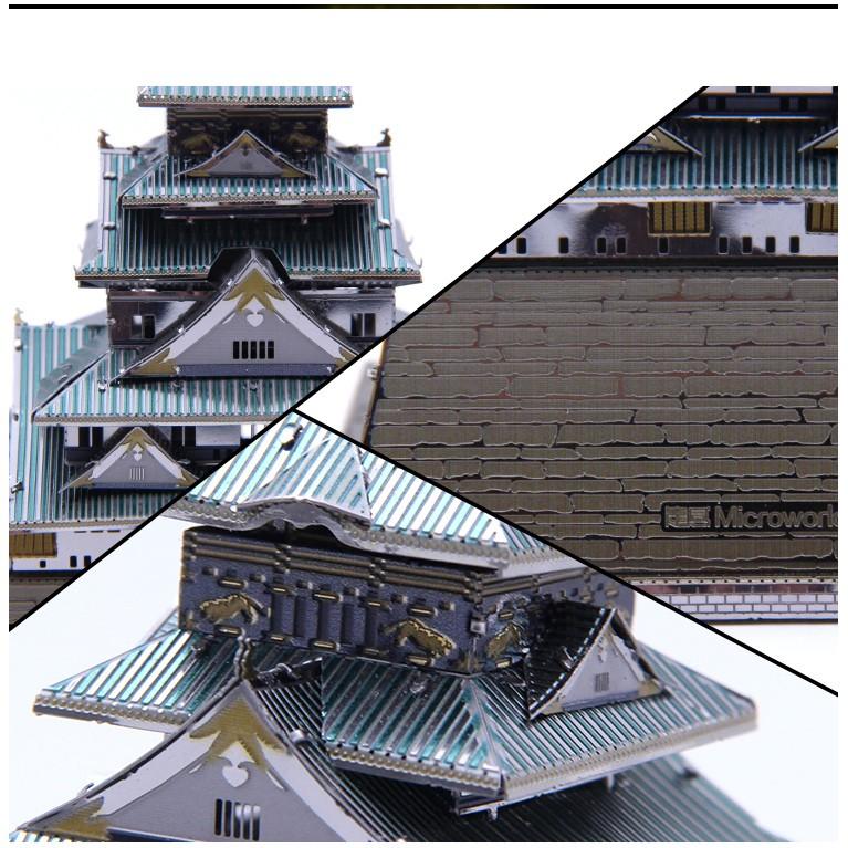 Mô hình lắp ghép kim loại 3d Lâu Đài Osaka(Microworld)