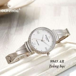 Đồng hồ nữ Đính đá Sunrise 9945AB kính Sapphire chống xước chống nước tốt - Fullbox chính hãng