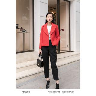 Áo vest dạ đỏ túi ốp Elise thumbnail