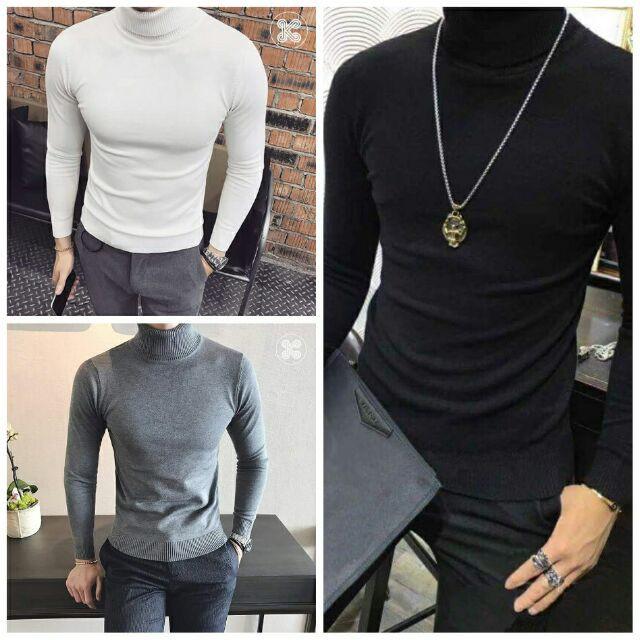 [Hangsieure] [SALE]Combo áo len nam cổ lọ kèm 3 đôi tất nam ngắn cổ chất lượng cao [có video]
