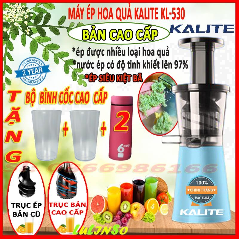 Máy ép trái cây hoa quả KALITE KL- 530, Máy ép chậm, (ÉP CỰC ĐÃ SIÊU KIỆT BÃ) Ép Hoa Quả, Ép Rau Củ- HÀNG CHÍNH HÃNG