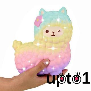 ✨QDA-Jumbo Squishy Slow Rising Rainbow Alpaca Mochi Squeeze Toy Pressure Relief Kids Toys
