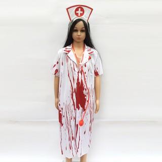 Set hóa trang Y tá ma dành cho thanh niên và người lớn chơi Halloween