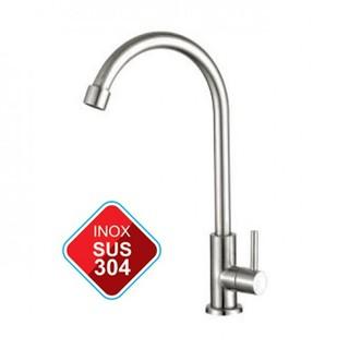 [GIÁ HỦY DIỆT] Vòi rửa chén lạnh inox304, vòi bếp, vòi rửa chén lạnh, vòi chén inox304, bảo hành 3 năm thumbnail