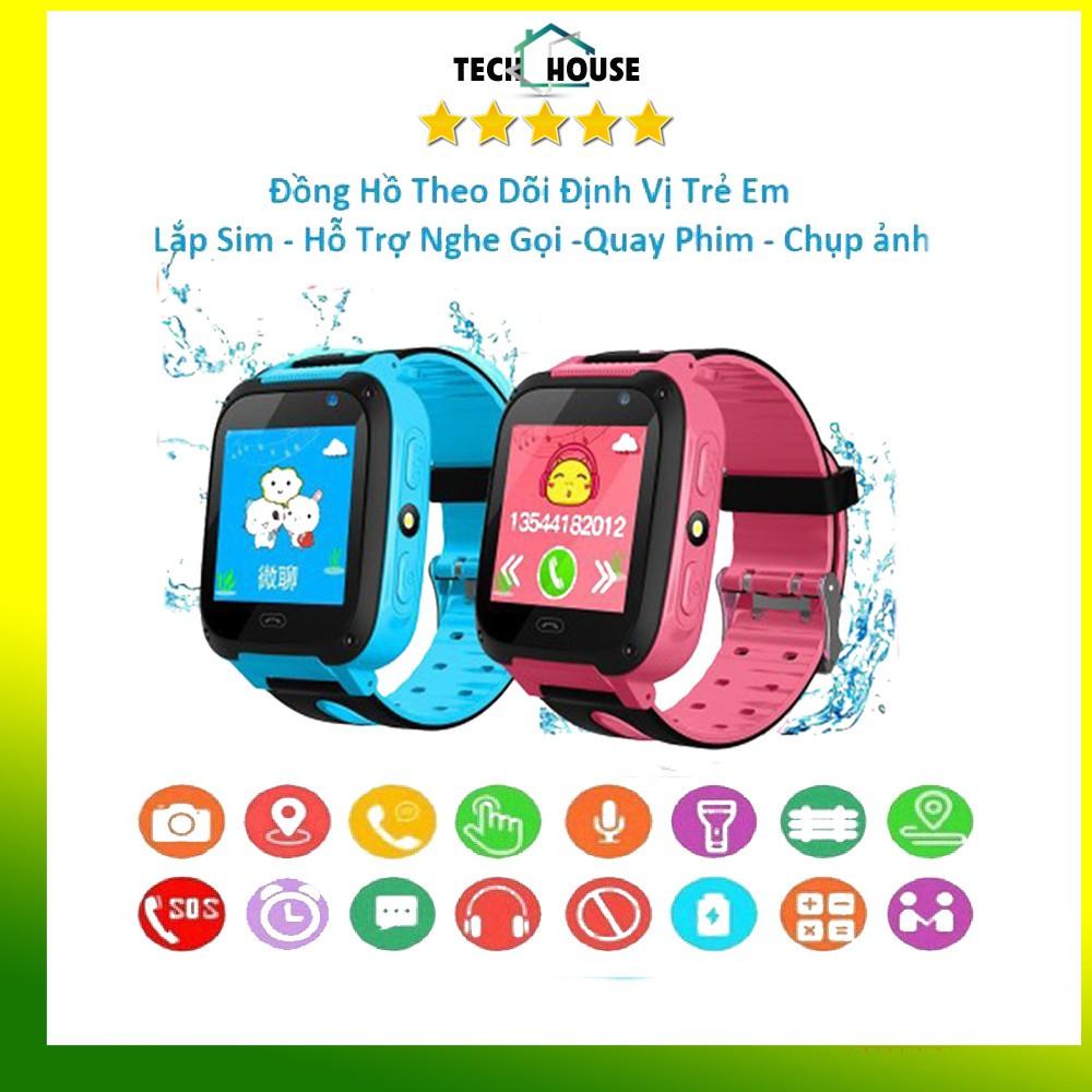 [TẶNG SIM] Đồng hồ thông minh trẻ em - Đồng hồ định SWQ12 CHÍNH HÃNG - Camera trước - Gắn sim nghe gọi định vị 3G 4G