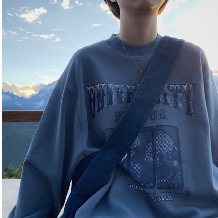 【Miss Sumey】Women Korean Long Sleeve English Letter Bigsize Hooide