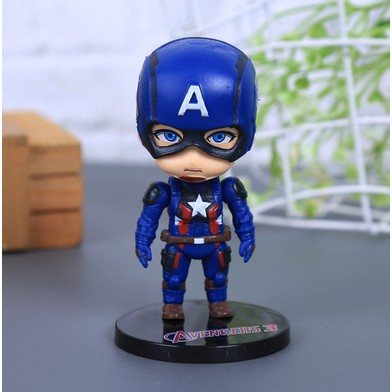 Mô Hình 6 Nhân Vật Siêu Anh Hùng Avengers Bao Gồm Bệ Đứng
