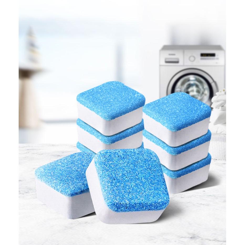Hộp 12 Viên Tẩy Vệ Sinh Lồng Máy Giặt, Sủi sạch vi khuẩn, Tẩy Sạch Cặn Bẩn Lồng Giặt