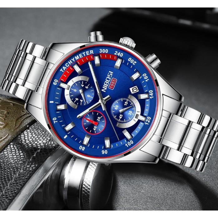 Đồng hồ Nibosi nam dây thép phiên bản quốc tế 2375 fullbox