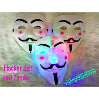 MẶT NẠ HÓA TRANG HACKER anonymous đèn led 7 màu cao cấp best
