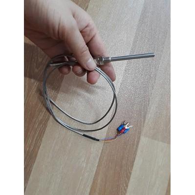 Cảm biến nhiệt độ PT100 - Dài dây 1000 mm, sensor nhiệt độ pt100 3 dây