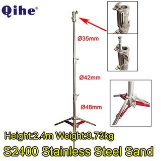 Chân Đèn Inox Qihe S2400 loại gấp gọn tải 20kg