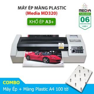 Máy Ép Màn Plastic Media MD320 Khổ A3 + Màn Ép Plastic A4 100 Tờ