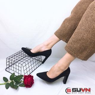 [SIÊU RẺ] Giày cao gót da lộn gót trụ 8cm