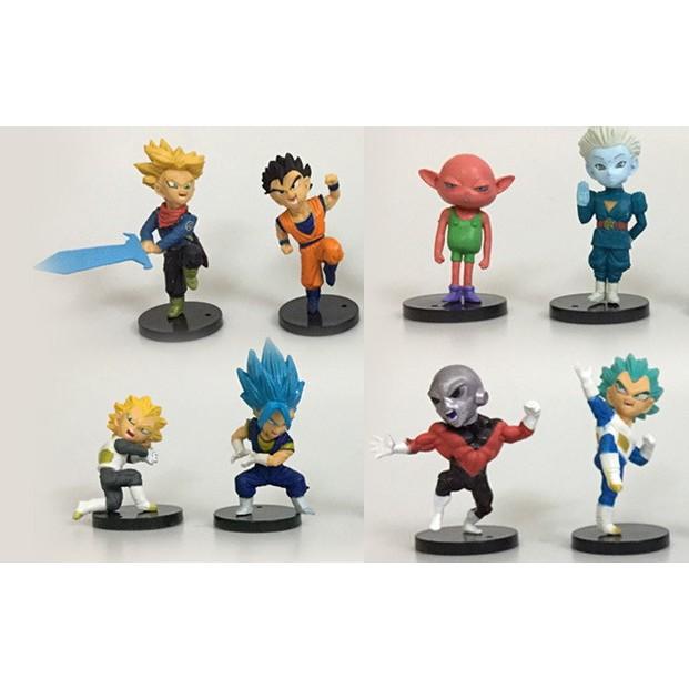 Combo 8 nhân vật 7 viên ngọc rồng Dragon Ball Songoku Son Goku chibi dễ thuong 6-8cm