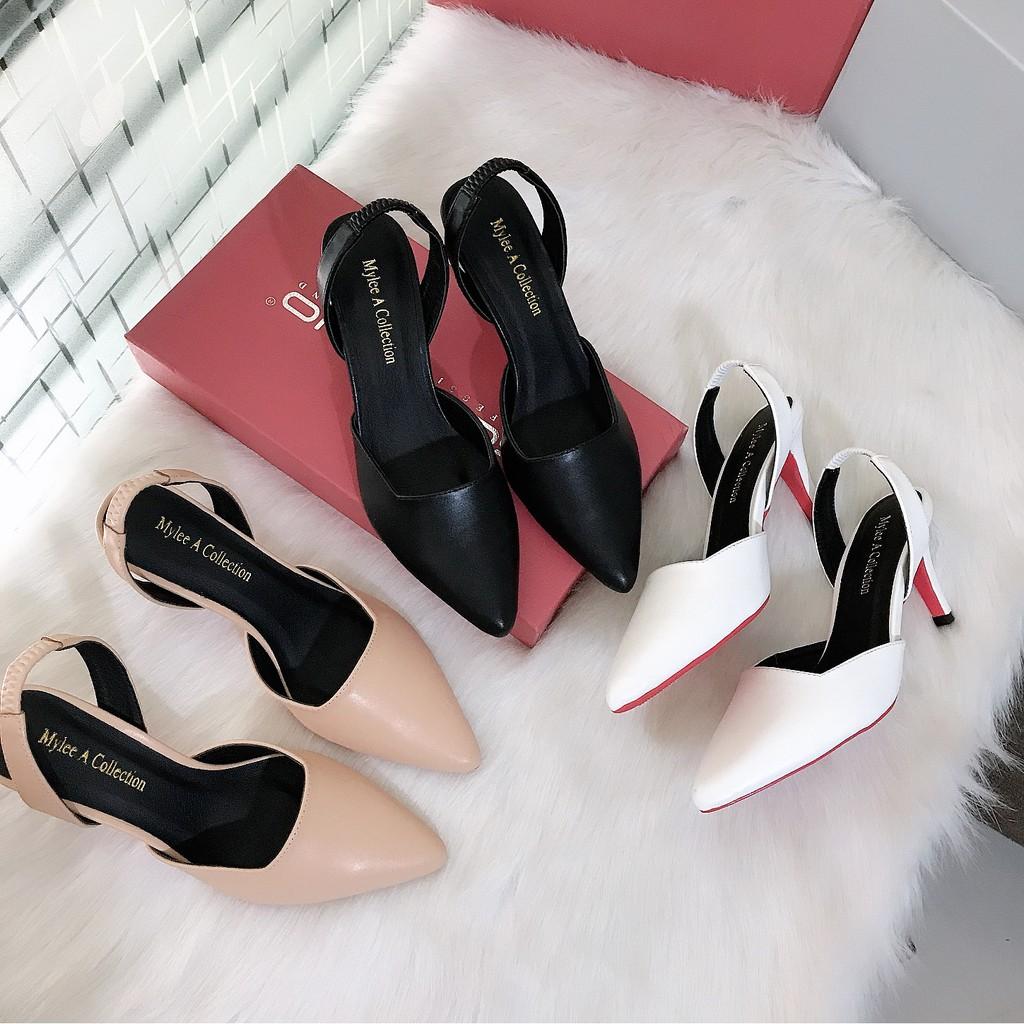 Giày cao gót [MẪU MỚI-GIA RẺ NHẤT] giày cao gót 7cm hậu sandal, mang êm chân