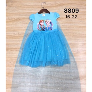 Váy elsa xanh cực xinh cho bé gái