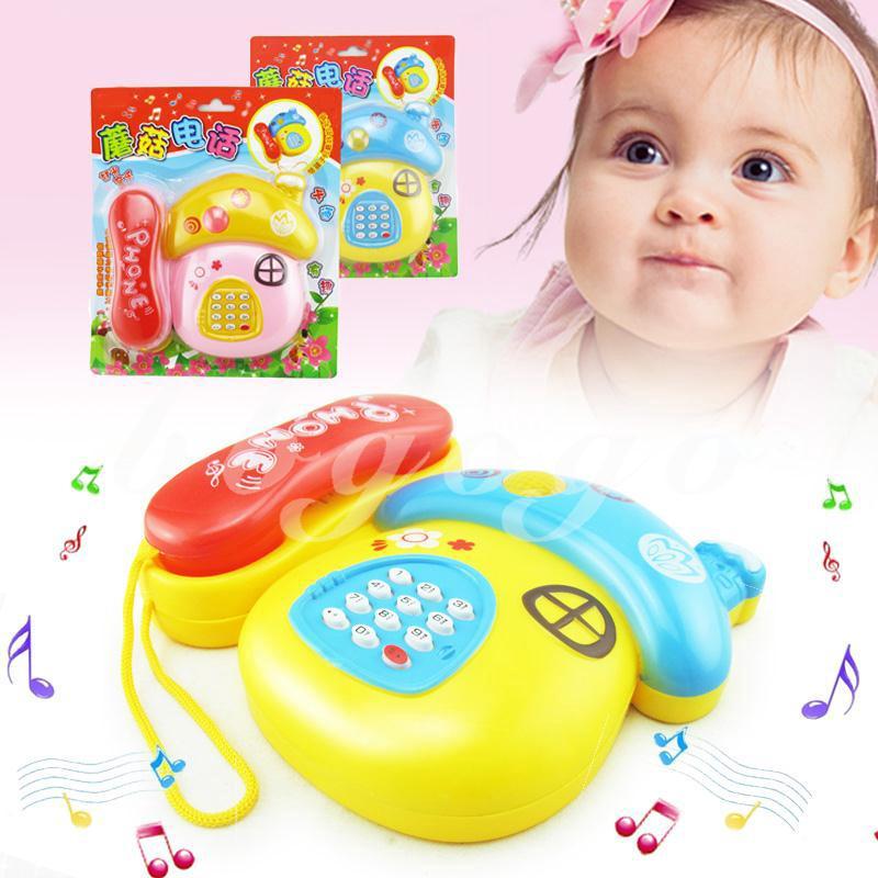 BBGO Education Telephone Child Phone Mini Cute Educational Mushroom