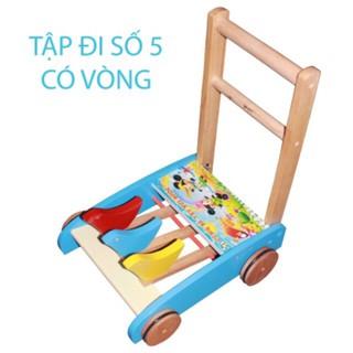 [ ĐỒ CHƠI ] Xe gỗ tập đi cho bé Song son ( xe có vòng)