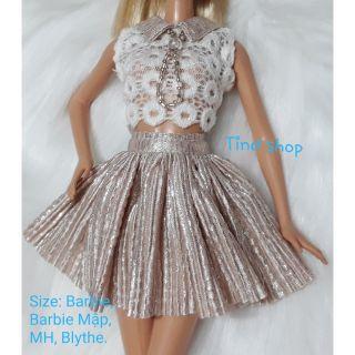 Đầm búp bê barbie dập ly kim tuyến