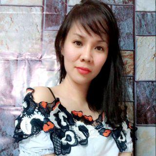 Áo trễ vai đính hoa 3D – Thái Lan – có video