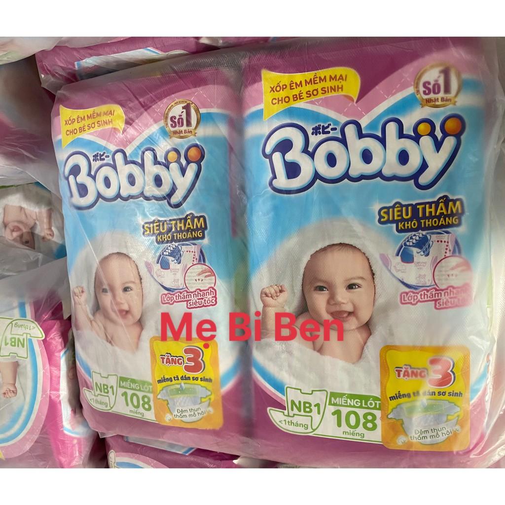 [GIÁ SỈ THÙNG] Miếng Lót Sơ Sinh Bobby NewBorn 1 28/64/108 miếng dành cho bé dưới 1 tháng tuổi