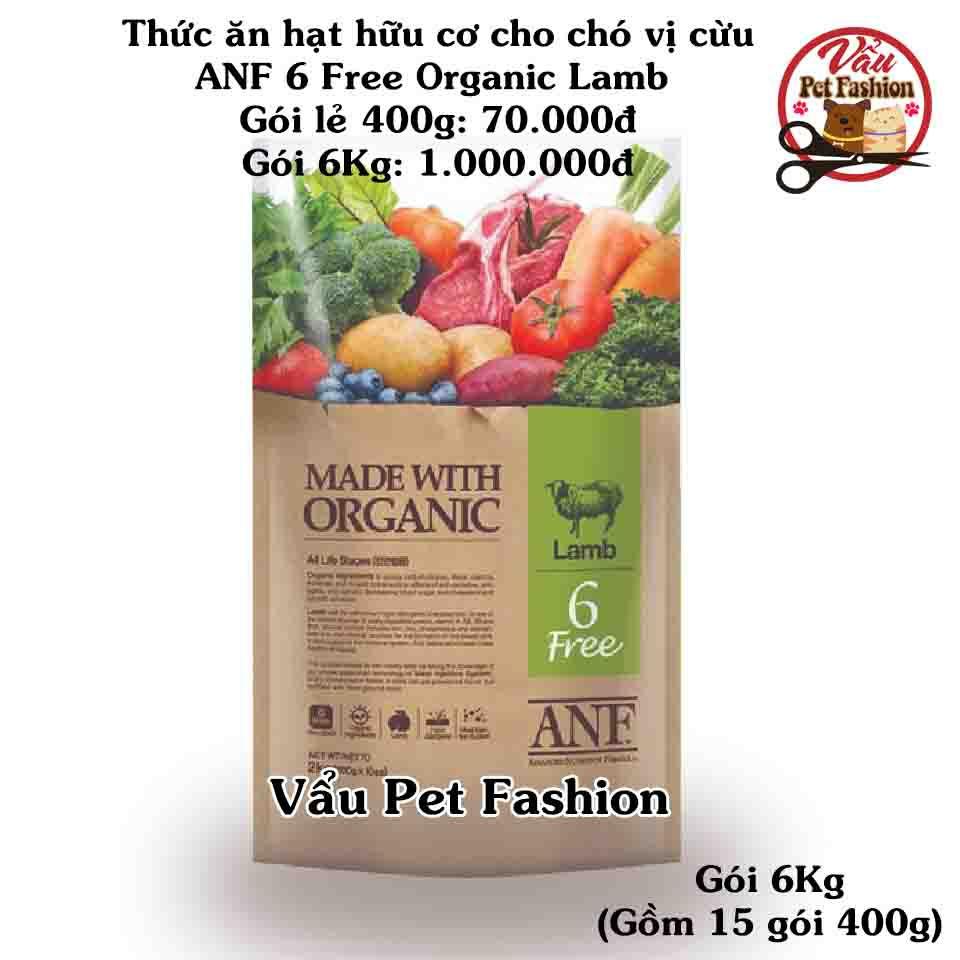 Thức ăn hạt hữu cơ cho chó vị cừu - ANF 6 free organic lamb gói 6kg