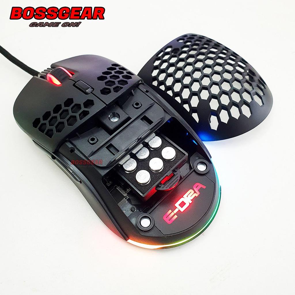 Chuột Gaming E-DRA EM618 Thiết kế siêu nhẹ có thể thay đổi khối lượng và hình dáng ( Avago 3327/ 12400 DPI )